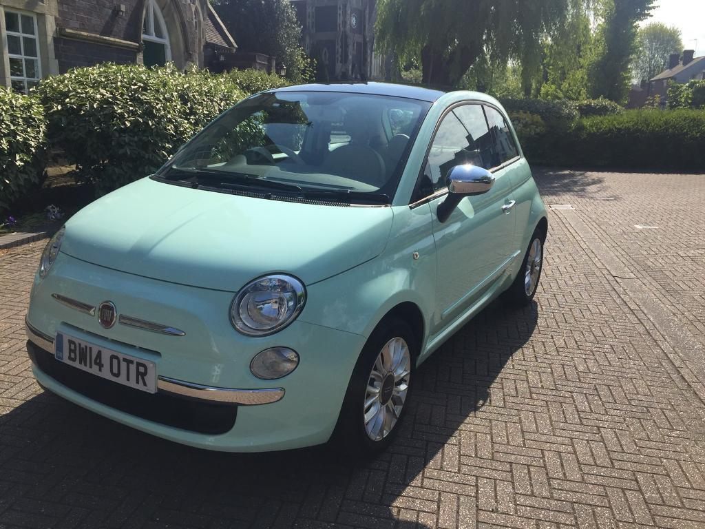 2014 fiat 500 lounge cool mint green 1 2 in stourbridge west midlands gumtree. Black Bedroom Furniture Sets. Home Design Ideas