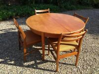 Jentique dining table and 4 chairs