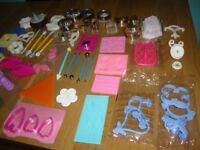 Large selection of cake making tools