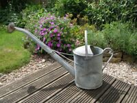 VINTAGE GALVANISED WATERING CAN 2 GALLON