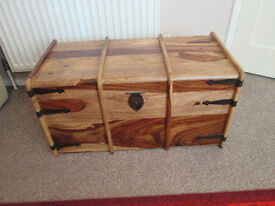 Mangowood Chest with iron fittings