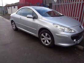 BREAKING PEUGEOT 307CC - ALL SPARES AVAILBLE - SILVER EZRC - BONNET? BUMPER? DOOR? WING? HEADLIGHT?