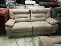 Baige suede 3 seater sofa and armchair