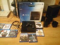 Playstation 4 500GB JetBlack + 10 Games + Sony Surround Speakers