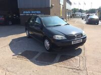 2003 VAUXHALL ASTRA 1.6 8V CLUB 5 DOOR WITH ONLY 72000 MILES WARRANTED,VERY CLEAN ORIGINAL CAR,