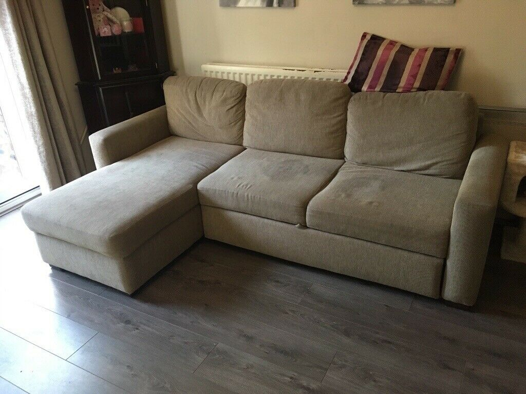 Corner sofa with pull out bed and storage   in Rubery ...
