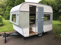 Fisher Holivan 2 berth stunning redecorated vintage caravan