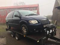 2007 Chrysler grand voyager 2.8crd stow and go / breaking all parts available