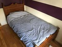 Single bed - wooden