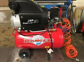 Clarke Air Compressor 2HP with accessories