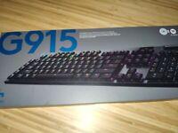Logitech G915 RGB Mechanical Gaming Keyboard (Romer-G Tactile, Black)