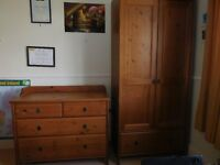 IKEA Children's wardrobe - brown and matching chest of drawers