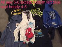 Boys bundle hoodies jumpers and cardigans age 5-6