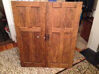Wooden Victorian cupboard doors