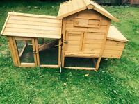 Chicken coop ark rabbit hutch with run attached