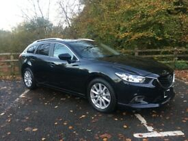 MAZDA 6 2.2 SKY ACTIVE DIESEL ESTATE MANUAL IN METALLIC BLACK 2014/64 PLATE