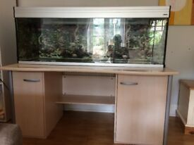 5ft (150cm) Fish Tank / Aquarium. inc cabinet, filter, heater etc. £300