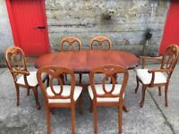 Solid dinning table and 6 chairs
