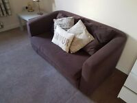 Double Sofa bed in chocolate brown cloth **Bargain**
