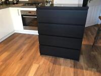 Ikea malm chest of draws - black brown