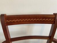 Polished mahogany dining table & 4 chairs