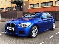 BMW 125D M Sport - Prof Media (big screen) , Heated Seats, Privacy Glass, Full BMW Service History