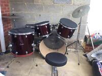 Ridgewood professional drum set - CHEAP