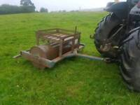 Tractor 6ft land field paddock roller has concrete inside in very good condition