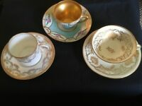 Antique minature cups and saucers