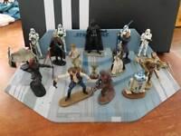 Star wars die cast figures and display