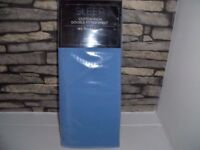 SLEEP COTTON RICH DOUBLE FITTED SHEET 180 THREAD COUNT BLUE BNIP TESCO 6 AVAILABLE