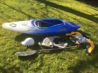 Pyranha kayak Inazone 232 with accessories
