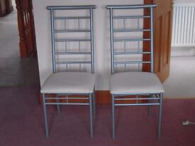 PAIR OF MATCHING DINING CHAIRS