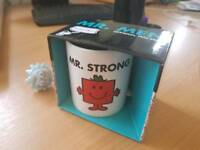 Mr Men. Mr Strong Mug. Boxed Unopened