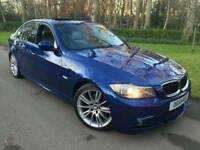 2009 59 BMW 320D M SPORT BUSINESS EDITION*FSH*LEATHER*SUNROOF*SAT-NAV*I-DRIVE*H/SEATS*MINT COND'N*