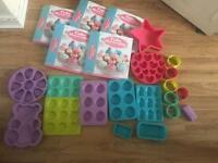 Cake folder and moulds