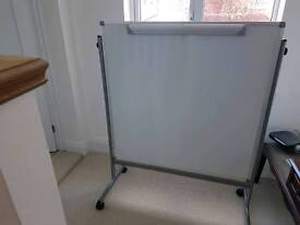 Office white and pinboard