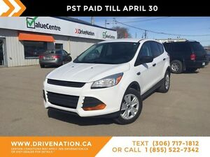2013 Ford Escape S GREAT ON GAS! SASK VEHICLE! SMOOTH RIDE!