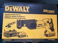 Dewalt DCS380P1 20V MAX Cordless Reciprocating Saw Battery and Charger Kit NEW! 110v battery charger