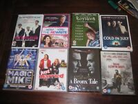 8 ASSORTED FILM / MOVIE DVDs (ALL BRAND NEW OR NEARLY NEW CONDITION) COLLECTION ONLY ENFIELD