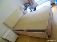 Good condition, 2 part double bed with 4 drawer under bed storage, head board and matress included.
