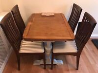 Upcycled Antique Oak Dining Table (opens up longer)