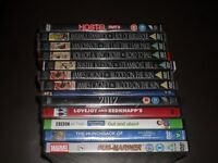 12x new and sealed dvds,4x boxsets and 14 games