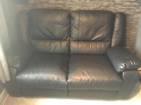 Leather 2seater settee