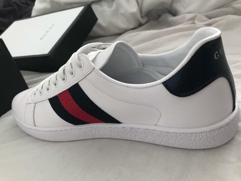 119ac0446 Gucci ace men's Uk9 white and navy with box | in Bordesley Green ...