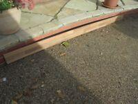 Worktop Upstand trim, oak block effect 2.36 meters