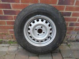 caravan spare wheel or trailer wheel