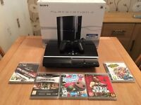 PS3 Console with 5 games
