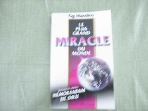 ***  LE PLUS GRAND MIRACLE DU MONDE  ***  NEUF  ***