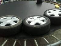 Ford fiesta zetec alloys x3 1x steel all 195 50 r15 tyres